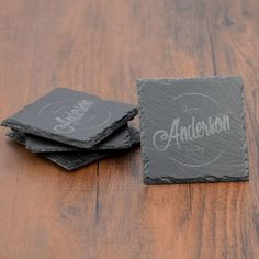 Personalized Slate Coaster Set Personalized Gifts For Grandparents, Personalized Housewarming Gifts, Personalized Coasters, Unique Gifts For Couples, Couple Gifts, Slate Coasters, Bar Gifts, My Bar, Kitchen Gifts