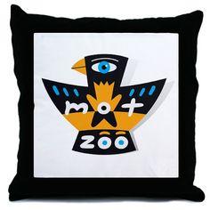 mot-zoo logo  throw pillow