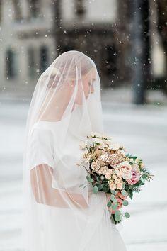 The Patricia dress styled in a winter ballerina photo shoot | Lena Medoyeff Studio | Bridal | Gina Neal wedding photography
