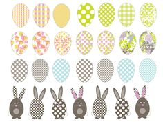 Gorgeous free printable to make an Easter inspired tree.