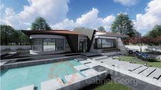 Casa parter 29 | Proiecte de case personalizate | Arhitect Gabriel Georgescu & Echipa Mansions, House Styles, Outdoor Decor, Home Decor, Houses, Modern Townhouse, Decoration Home, Manor Houses, Room Decor