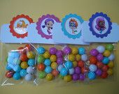 Bubble Guppies candy, Bubble Guppies party favors, Bubble Guppies birthday candy