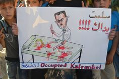 "Words on poster reads ""Thank you for killing us"