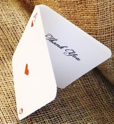 SET OF 10 Vegas Poker Simple Thank You Cards  by WoodlarkDesigns, $12.50