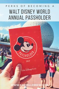 Becoming a Walt Disney World Annual Passholder has more perks than you think! Find out why you should make the investment and become a Disney VIP. Disney Vacation Club, Walt Disney World Vacations, Disney Travel, Disney World Tips And Tricks, Disney Tips, Disney 2017, Disney Magic, Disney World Parks, Disney World Planning