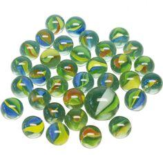 Murmeln aus Glas im Netz aus Großhandel und Import