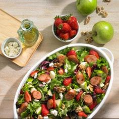 Johnsonville Strawberry and Apple Chicken Sausage Salad Recipe from our friends at Johnsonville®