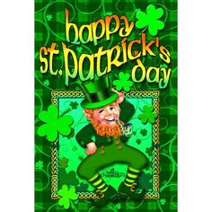 Toland Home Garden Happy Leprechaun 28 x 40 Inch Decorative St Patrick's Day Shamrock Clover Double Sided House Flag - 102128 New Saints, Evergreen Flags, Evergreen Enterprises, Garden Decor Items, Outdoor Flags, House Flags, Flag Design, Christmas Love, Garden Flags