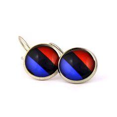 Novelty BMW logo tricolor earrings. BMW fan logo M earrings. Bmw M5. Personalised  jewelry  gift. BMW lovers gift. 2017. by Mysstic on Etsy