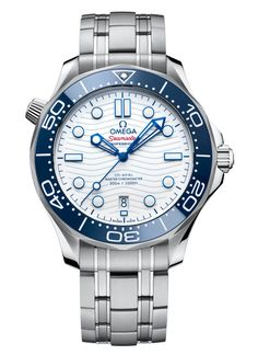 Omega Seamaster Diver 300M Tokyo 2020 Frontal Omega Seamaster Diver 300m, Seamaster 300, Stainless Steel Bracelet, Stainless Steel Case, Omega Co Axial, Diamond Sale, Swiss Luxury Watches, Tokyo 2020, Watch Sale
