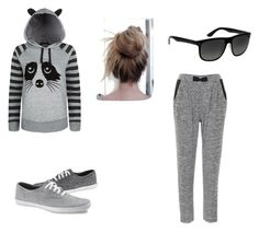"""""""Lazy day"""" by mysticmaniac ❤ liked on Polyvore featuring Ichi and Ray-Ban"""