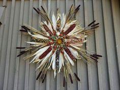 Indian corn wreath                                                                                                                                                                                 More (autumn wreath diy tutorials)