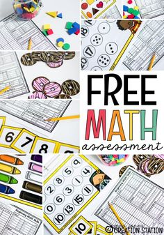 Use this free printable assessment after the first few weeks of school to assess your preschool, pre-k, and kindergarten students on what they've learned and what they still need to learn! It will provide the information you need to plan your whole group, small group, and math centers. Assess numbers, subsidizing, colors and shapes, sorting, positional words, patterns, and exploring numbers. #preschool #prek #kindergarten #mathassessment #backtoschool #freeprintable