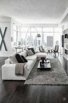 95 Cool Modern Home Living Room Design Comfort Provided With Modern Home Furnishings 1 - Home Sweet Small Space Living Room, Living Room Grey, Living Room Modern, Home Living Room, Contemporary Living Room Designs, Black White And Grey Living Room, Kitchen Living, Contemporary Style, Small Spaces
