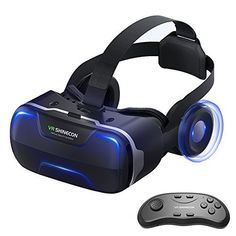 17f13c5c9d8e Eleovo VR1 Headset with Remote Controller Large Viewing Experience Virtual  Reality Glasses with Builted-in Stereo Headphone for VR Games 3D Movies Fit  for ...