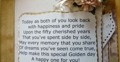 Golden Anniversary Ideas - First, if you've made it to your 50th wedding anniversary, we extend our sincerest congratulations! Description from pinterest.com. I searched for this on bing.com/images