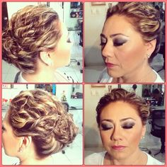 Makeup and hair