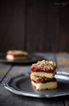 Strawberry Vanilla Jam Crumb Bars