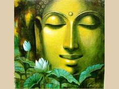 """""""May I awaken to the light of my own nature. May I be healed. May I be a source of healing for all beings."""" Buddhist prayer. Painted by Suhas Das"""