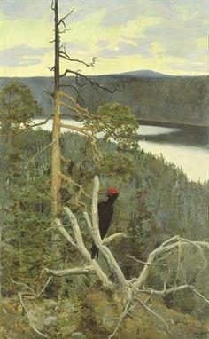 The Great Black Woodpecker - Akseli Gallen-Kallela