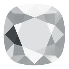 Swarovski Crystal Cushion Square Fancy Stone - 4470 - Crystal Light Chrome - 10mm