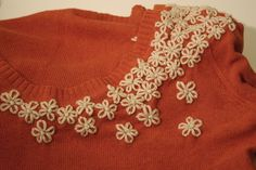 Boutique+sweaters+are+great+but+so+expensive!+Here's+a+way+to+make+a+bargain-store+sweater+shine+using+two+simple+stitches.