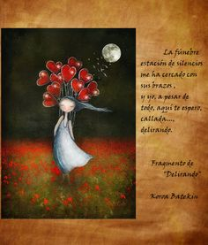 "Fragmento de ""Delirando"" de La Carta de la Luna - Koroa Batekin. Pintura de Amanda Cass."