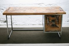 Hand-crafted desk made from a former spiral stair. one of a kind!