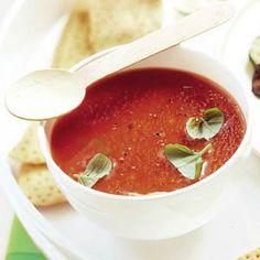 14 maart - tomaten in de bonus - Recept - Tomatensoep met verse basilicum - Allerhande