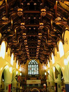 Hammerbeam ceiling: South Leith parish church, Edinburgh