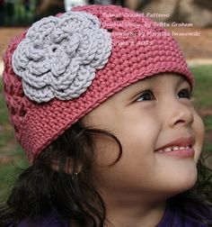 This listing is for my Flower Power Cap hat crochet pattern. This crochet pattern is offered for sale as a digital file (PDF format) and will be