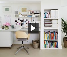 We can't get enough of this finished basement, it's bright, airy and organized. Sarah Hartill explains how she transformed an open-concept basement into a multipurpose family room with a home office,