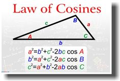 Law of Cosines: can find a third side of a triangle if you know two sides and the angle between them; can use to determine the grade or steepness of a slope or to determine the distance to a star