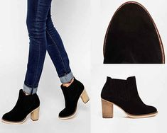 ASOS EACH AND EVERY DAY Wide-Fit Suede Ankle Boots / 31 Legitimately Cute Shoes For Ladies With Wide Feet
