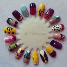 Disney Nail Art. Can you guess them all?