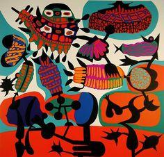 Alfred Pellan, Sioux, sérigraphie