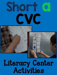 CVC activities - for literacy centers, small group, Daily work on words, etc. Emergent Literacy, Kindergarten Literacy, Kindergarten Activities, Classroom Activities, Teaching Sight Words, Teaching Letters, Literacy Stations, Literacy Centers, Thing 1