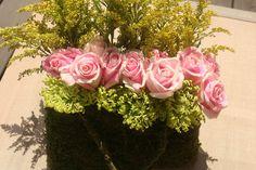 flower arranging in handbag