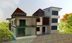 house model   #sketch up #v-ray #photoshop