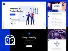 InVision - Design Education Web Portal designed by Anton Aheichanka for InVision. Connect with them on Dribbble; the global community for designers and creative professionals. Landing Page Inspiration, Typography Inspiration, Web Design Inspiration, Daily Inspiration, Portal Website, Ui Design Patterns, Portal Design, Ui Web, Web Layout
