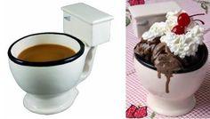 tazza per gelati e bevande a forma di water
