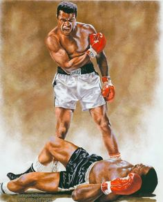 Bilde: Ali - Liston 2nd - one of the most controversial fights in the history of the ring - WAS IT REALLY A PHANTOM PUNCH? #MuhammadAli Cassiusclay #SonnyListon  #Boxing  #boxeo  #boxinghalloffamelasvegas  #boxinghalloffame