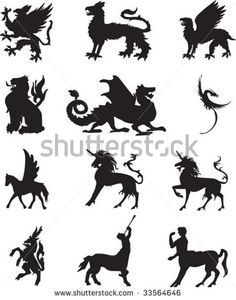 Griffin Symbol | Griffin tattoo Stock Photos, Illustrations, and Vector Art