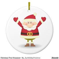 Christmas Tree Ornament - Santa