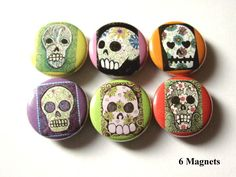 Day of the Dead MAGNETS calavera skull skeleton day of the dead