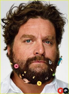 Zach Galifianakis - Beards can just be so messy! - Photo by Martin Schoeller