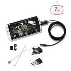 HD 2 in 1 Endoscope Android PC USB 6 LED Waterproof Endoscopy Inspection Borescope micro Camera with Length Cable Android Video, Pc Android, Pinhole Camera, Car Camera, Usb, Latest Cell Phones, Waterproof Camera, Cool Things To Buy, Lens