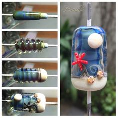 Beusha Joyeria: Work in progress for a Ocean theme bead