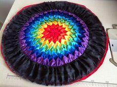 Patchwork cushion rainbow DIY ~ Пэчворк подушка