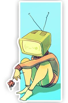 When Beemo evolves TV Girl by Ondinel on deviantART Character Concept, Character Art, Character Design, Design Reference, Art Reference, Illustrations, Illustration Art, Object Heads, Tv Head